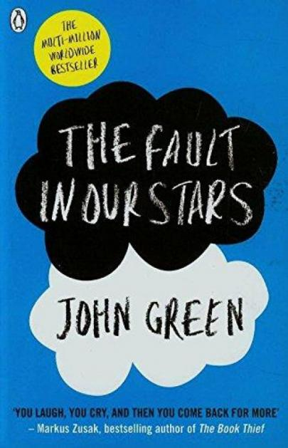 Book cover Fault in our Stars