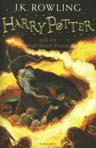 Book cover Harry Potter and the half-blood prince