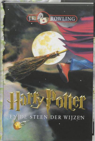Book cover Harry Potter en de steen der wijzen