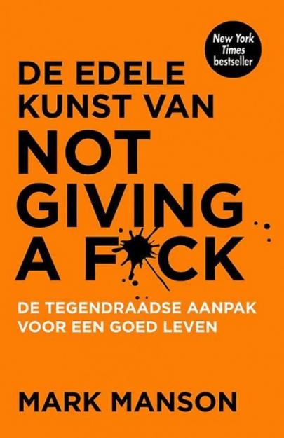 Book cover De edele kunst van not giving a fuck