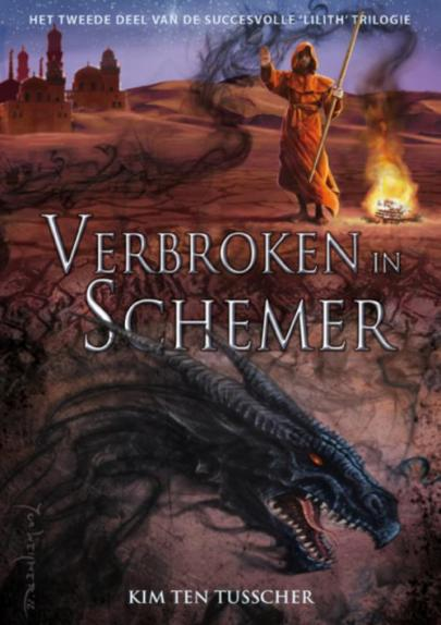 Book cover Verbroken in schemer
